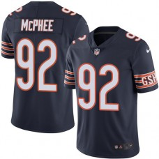 2016 Nike Chicago Bears 92 Pernell McPhee Navy Blue Mens Stitched NFL Limited Rush Jersey