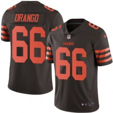2016 Nike Cleveland Browns 66 Spencer Drango Brown Mens Stitched NFL Limited Rush Jersey