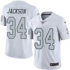 2016 Nike Oakland Raiders 34 Bo Jackson White Mens Stitched NFL Limited Rush Jersey
