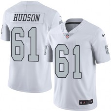 2016 Nike Oakland Raiders 61 Rodney Hudson White Mens Stitched NFL Limited Rush Jersey