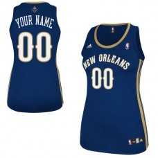Adidas New Orleans Pelicans Women Custom Replica Road Navy Blue NBA Jersey