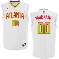 Men Atlanta Hawks Adidas White Custom Home Replica NBA Jersey