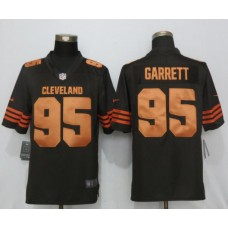 2017 NFL New Nike Cleveland Browns 95 Garrett Navy Brown Color Rush Limited Jersey