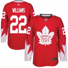 2017 NHL Toronto Maple Leafs Men 22 Tiger Williams red jersey