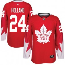 2017 NHL Toronto Maple Leafs Men 24 Peter Holland red jersey