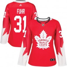 2017 NHL Toronto Maple Leafs women 31 Grant Fuhr red jersey