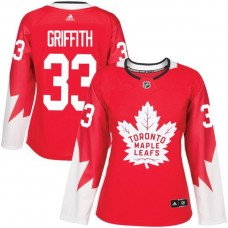 2017 NHL Toronto Maple Leafs women 33 Seth Griffith red jersey