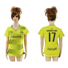 2017-2018 Club Dortmund home aaa verion women 17 soccer jersey