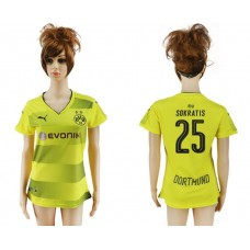 2017-2018 Club Dortmund home aaa verion women 25 soccer jersey
