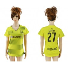 2017-2018 Club Dortmund home aaa verion women 27 soccer jersey