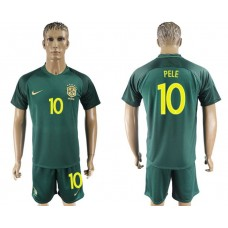 Men 2017-2018 National Brazil away 10 Pele soccer jersey