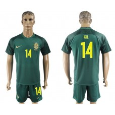 Men 2017-2018 National Brazil away 14 soccer jersey