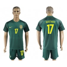 Men 2017-2018 National Brazil away 17 soccer jersey