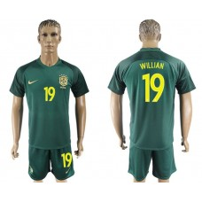 Men 2017-2018 National Brazil away 19 soccer jersey