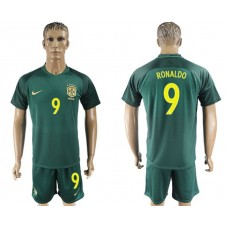 Men 2017-2018 National Brazil away 9 soccer jersey