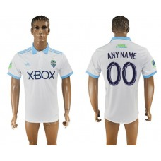 Men 2017-2018 club Seattle Sounders away aaa version customized white soccer jersey