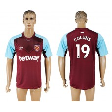 Men 2017-2018 club West ham at home 19 red aaa version soccer jersey
