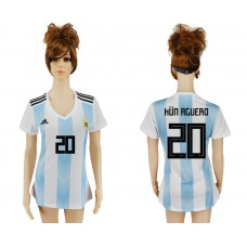 2018 World Cup Argentina home aaa version women 20 soccer jersey