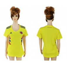 2018 World Cup National Colombia home aaa version womens yellow soccer jersey