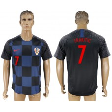 Men 2018 World Cup Croatia away aaa version 7 blue soccer jersey