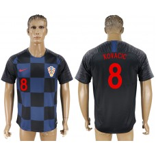 Men 2018 World Cup Croatia away aaa version 8 blue soccer jersey