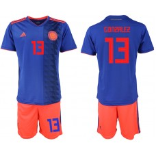 2018 World Cup Men Colombia away 13 soccer jersey