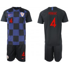 2018 World Cup Men Croatia away 4 soccer jersey