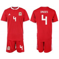 2018-2019 Men nationa Welsh home 4 soccer jersey