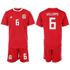2018-2019 Men nationa Welsh home 6 soccer jersey
