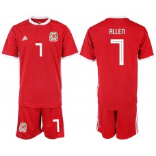 2018-2019 Men nationa Welsh home 7 soccer jersey