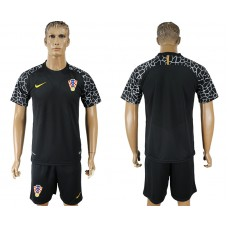 Men 2018 World Cup Croatia  black goalkeeper soccer jersey