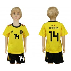 Youth 2018 World Cup Belgium away 14 yellow soccer jersey