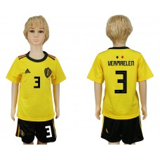 Youth 2018 World Cup Belgium away 3 yellow soccer jersey
