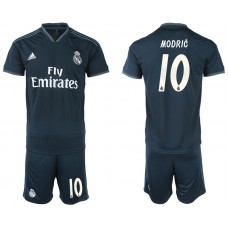 Men 2018-2019 club Real Madrid away 10 blue soccer jerseys