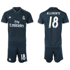 Men 2018-2019 club Real Madrid away 18 blue soccer jerseys