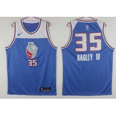Men Sacramento Kings 35 Bagley iii Blue Game Nike NBA Jerseys