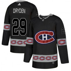 2018 NHL Men Montreal Canadiens 29 Dryden black jerseys