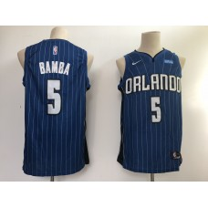 Men NBA Orlando Magic 5 Bamba blue game Nike NBA Jerseys