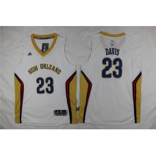 Adidas New Orleans Pelicans Youth 23 Davis white NBA Jersey