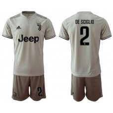 Men 2018-2019 club Juventus away 2 grey Soccer Jerseys