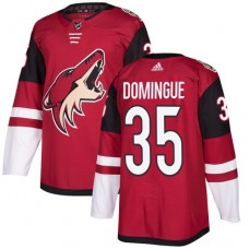 Adidas Arizona Coyotes 35 Louis Domingue Maroon Home Authentic Stitched Youth NHL Jersey