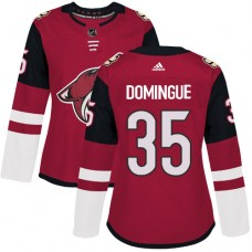 Adidas Arizona Coyotes 35 Louis Domingue Maroon Home Authentic Women Stitched NHL Jersey