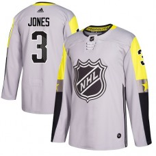 Adidas Columbus Blue Jackets 3 Seth Jones Gray 2018 All-Star Metro Division Authentic Stitched Youth NHL Jersey