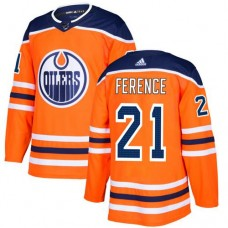 Adidas Edmonton Oilers 21 Andrew Ference Orange Home Authentic Stitched Youth NHL Jersey