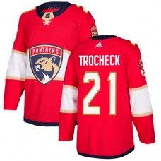 Adidas Florida Panthers 21 Vincent Trocheck Red Home Authentic Stitched Youth NHL Jersey