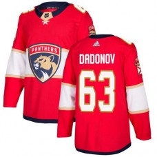 Adidas Florida Panthers 63 Evgenii Dadonov Red Home Authentic Stitched Youth NHL Jersey