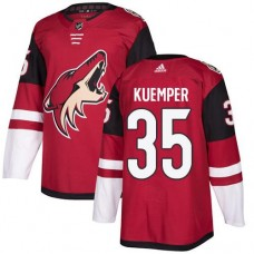 Adidas Men Arizona Coyotes 35 Darcy Kuemper Maroon Home Authentic Stitched NHL Jersey