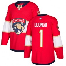 Adidas Men Florida Panthers 1 Roberto Luongo Red Home Authentic Stitched NHL Jersey