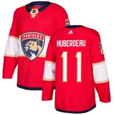 Adidas Men Florida Panthers 11 Jonathan Huberdeau Red Home Authentic Stitched NHL Jersey