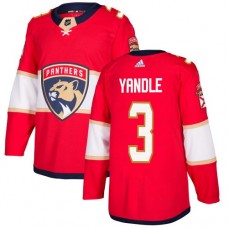 Adidas Men Florida Panthers 3 Keith Yandle Red Home Authentic Stitched NHL Jersey